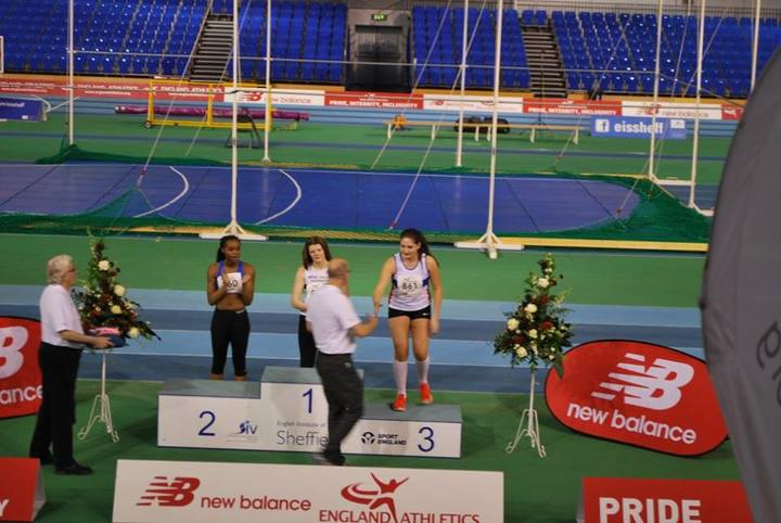 Gaia Collecting her bronze medal