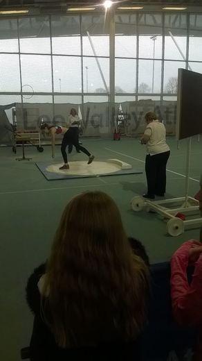 Ella-May Sprake winning the London Indoor Games Shot Put