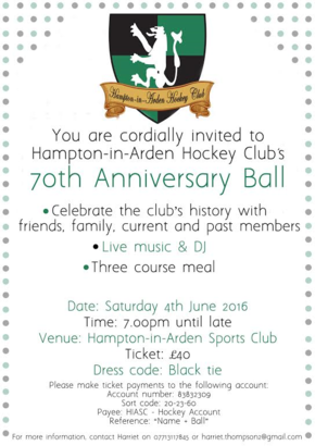 70th Anniversary Ball