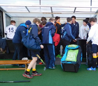 U16 Dug Out at Plymouth 2016