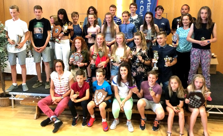 The award winners along with our superb guest of honour, Paralympic bronze medallist, Olivia Breen, seen here at our presentation evening back in June, held at Portsmouth College