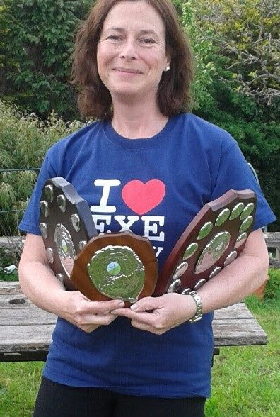 Captain - Katie Parr with Petroc 2 winning shield! Congratulations 4th team :)