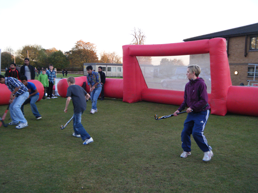 Rush Hockey in the inflatable pitch