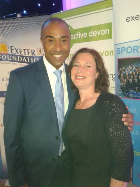 4th XI Captain, Katie Parr with Colin Jackson