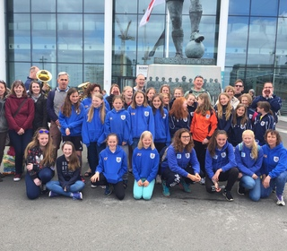 RTYFC girls and families and Wembley