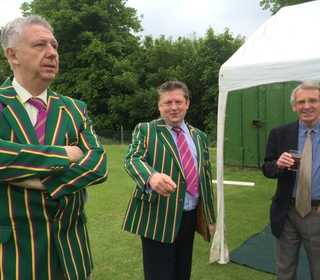 Dick Davies of BBC Essex talking to David Barrs (Chairman) and Andrew Arnold (Senior VP)