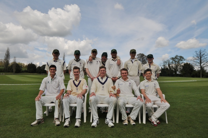 This Crocus Bear posed with the 1st XI because he's a real team bear.